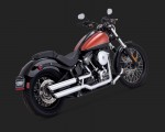 V&H Twin Slash Slip-ons for Harley Softail - Chrome