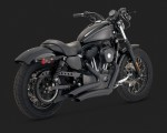 DK Custom V&H Big Radius 2-2 Full Exhaust for Harley Sportster - Chrome black Vance & Hines