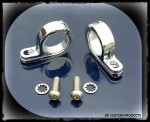 Engine Guard & Frame Tube Hinged P Clamps For Lights Chrome