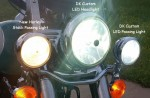 DK Custom Harley LED Headlight Saddlebag Light Turn Signals Run Brake Turn Passing Driving Fog