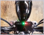 DK Custom Harley-Davidson Sportster Dyna Handlebar Top Clamp Indicator Lights Speedometer Relocation