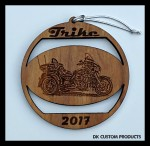 DK Custom Christmas Tree Holiday Harley Trike Laser Engraved Ornament