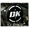 DK in 3-D Flake Complete HiFlow 587 Air Cleaner for Sportsters