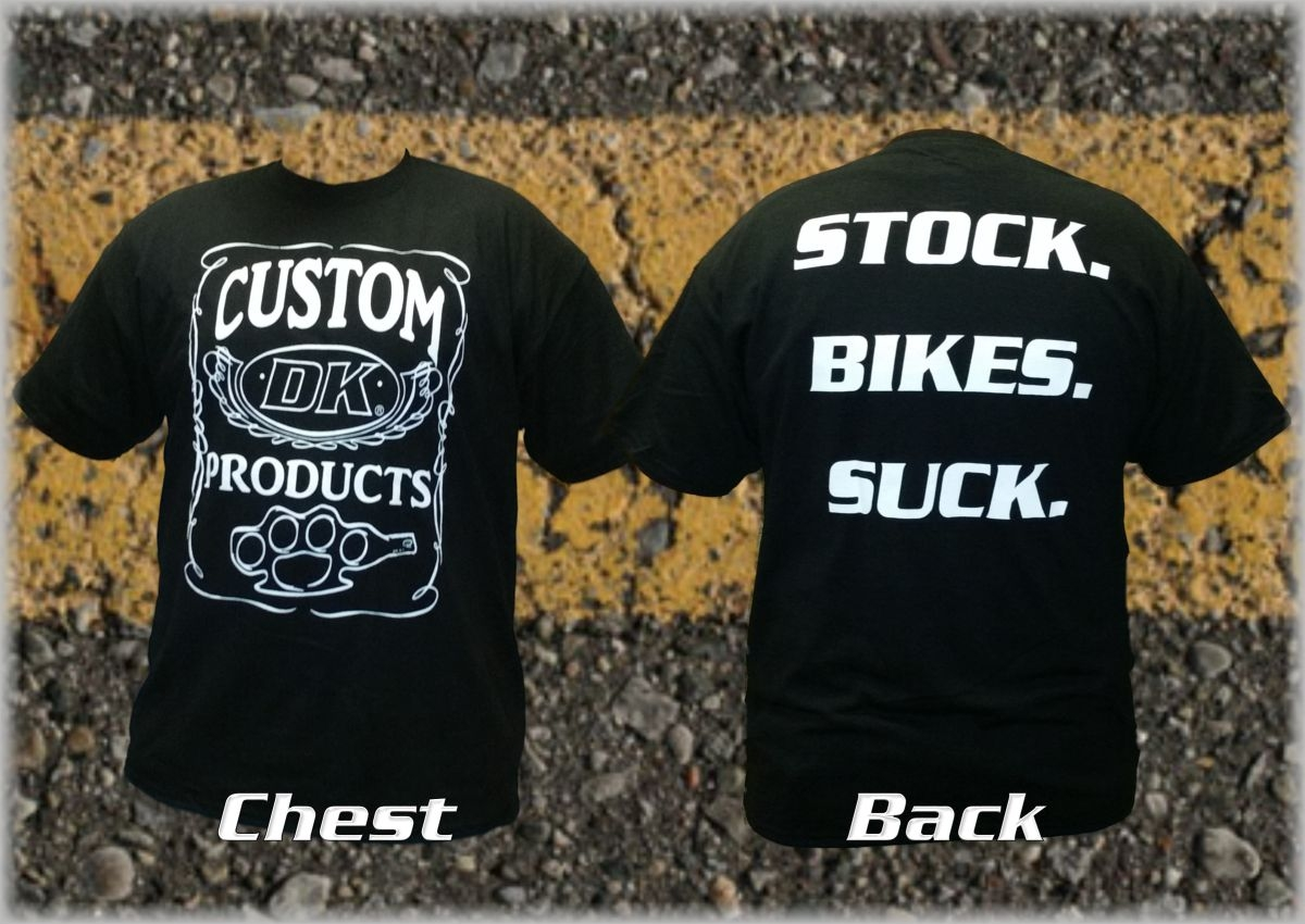 Stock. Bikes. Suck. DK Custom Products Dry Blend Shirt