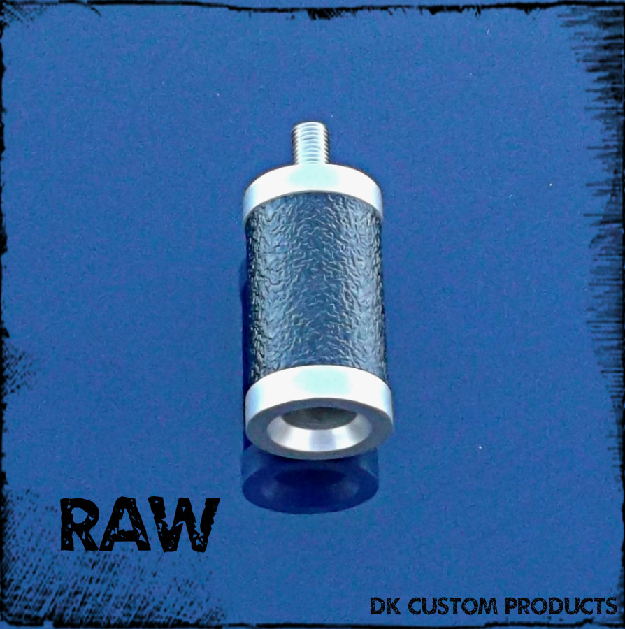 Raw 6061 Aluminum Gripper Shift Peg & Heel Rest Harley