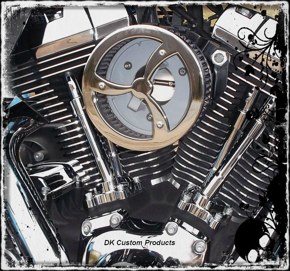 Chrome Cyclone Cover for DK Custom Outlaw HiFlow 587 Air Cleaner