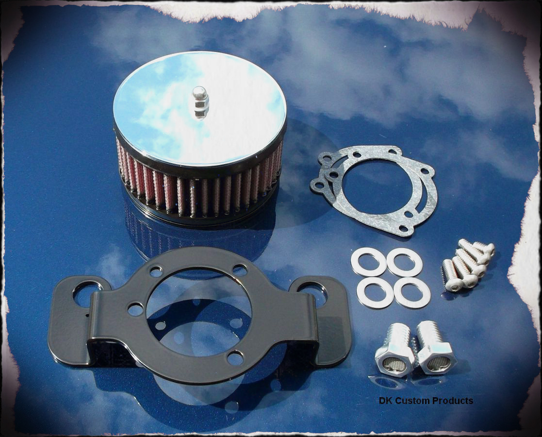 Mirror Chrome Complete HiFlow 425 Air Cleaner Harley Twin Cam