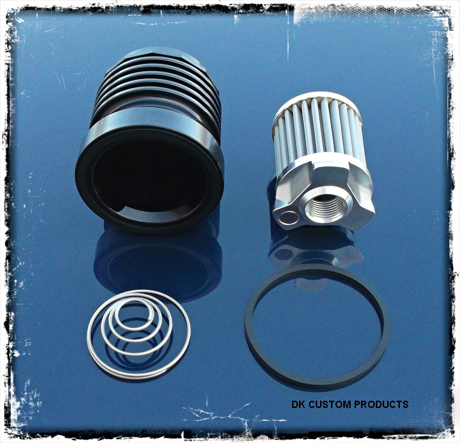 OUTLAW High Performance Cleanable Oil Filter in Anodized Black