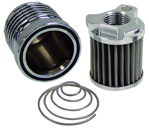 OUTLAW High Performance Cleanable Oil Filter in Polished Finish