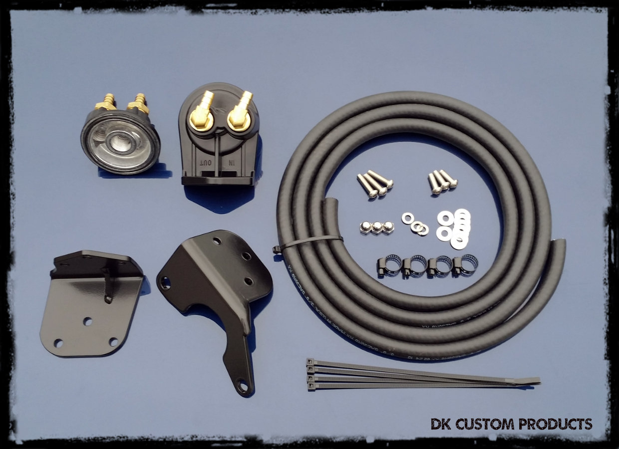 Oil Filter Relocation / Oil Cooler Combo PKG For HarleyTrikes