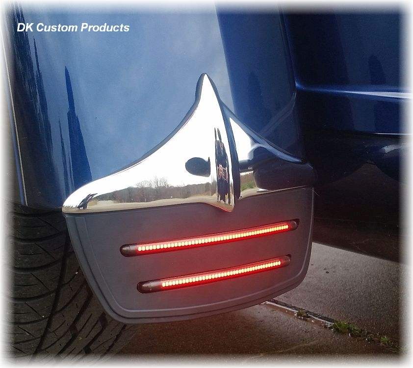 Tri-Glide Mud Flaps w/ Run-Brake-Turn LED Lights Built-In