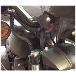 Handlebar Riser Extensions Harley-Davidson Black Steel DK Custom Products Harley Davidson Raise Bars Dyna Softail Sportster Pull Back