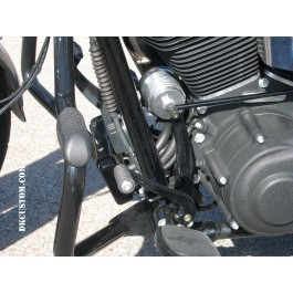 OUTLAW High Performance Cleanable Oil Filter in Polished Finish Permanent DK Custom Twin Cam Harley-Davidson Softail Dyna Touring Trike Freewheeler High Flow High Performance Superior Filtration Increased HP Torque Engine Cooler Premium