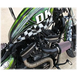 Harley Davidson Stealth External Breather System Sportster & Big Twin Evo DK Custom Outlaw air cleaner EBS Roadster  high flow M-8 milwaukee-eight softail twin cam dyna 72 48 Big twin evo nighster iron