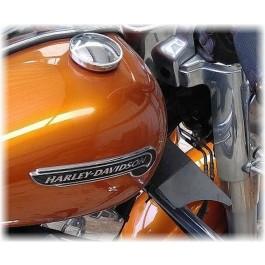DK Custom Cooling Deflector Wings CDW Harley Touring Bagger Trike Tri-Glide Freewheeler Better Air Flow Reduce Buffetting