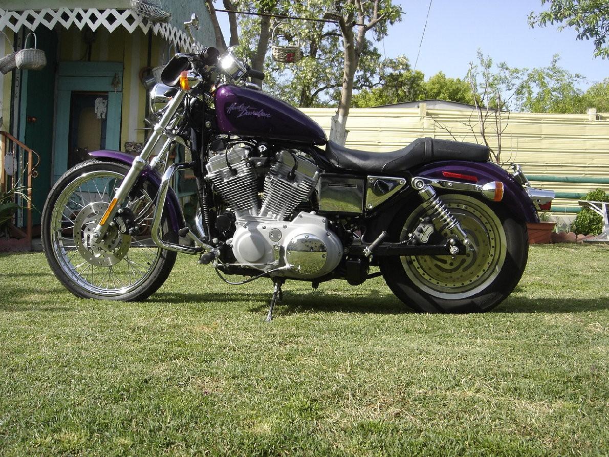 """DK Custom 1"""" Lowering Kit 00-04 for Harley-Davidson Sportster Models Billet Aluminum Lowering Blocks Made in The USA Anodized Black Chrome"""