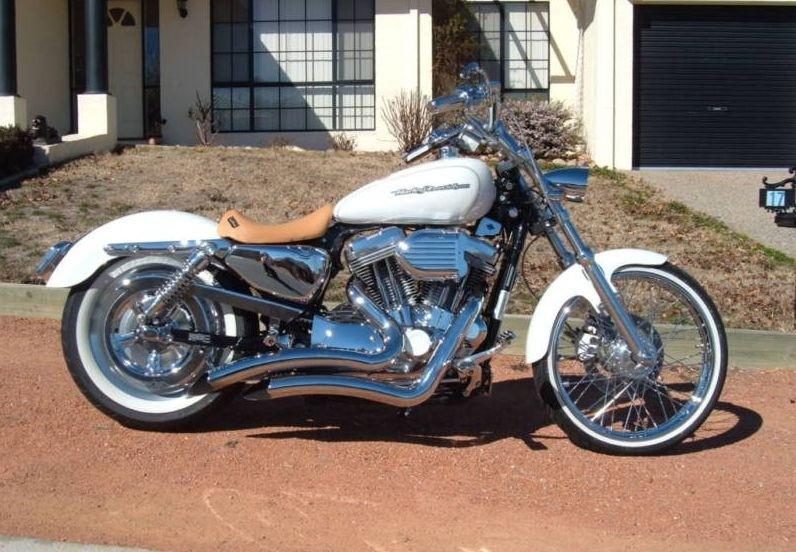 """DK Custom 1"""" Lowering Kit 05-Up for Harley-Davidson Sportster Models Billet Aluminum Lowering Blocks Made in The USA Anodized Black Chrome"""