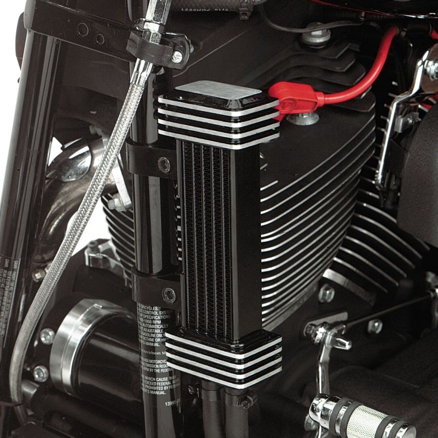 Deluxe Oil Cooler System for Harley-Davidson Motorcycles DK Custom High Flow Performance Sportster  Dyna Softail Touring Trike Freewheeler Big Twin Evo Milwaukee Eight Cooler Running Motor Jagg HD