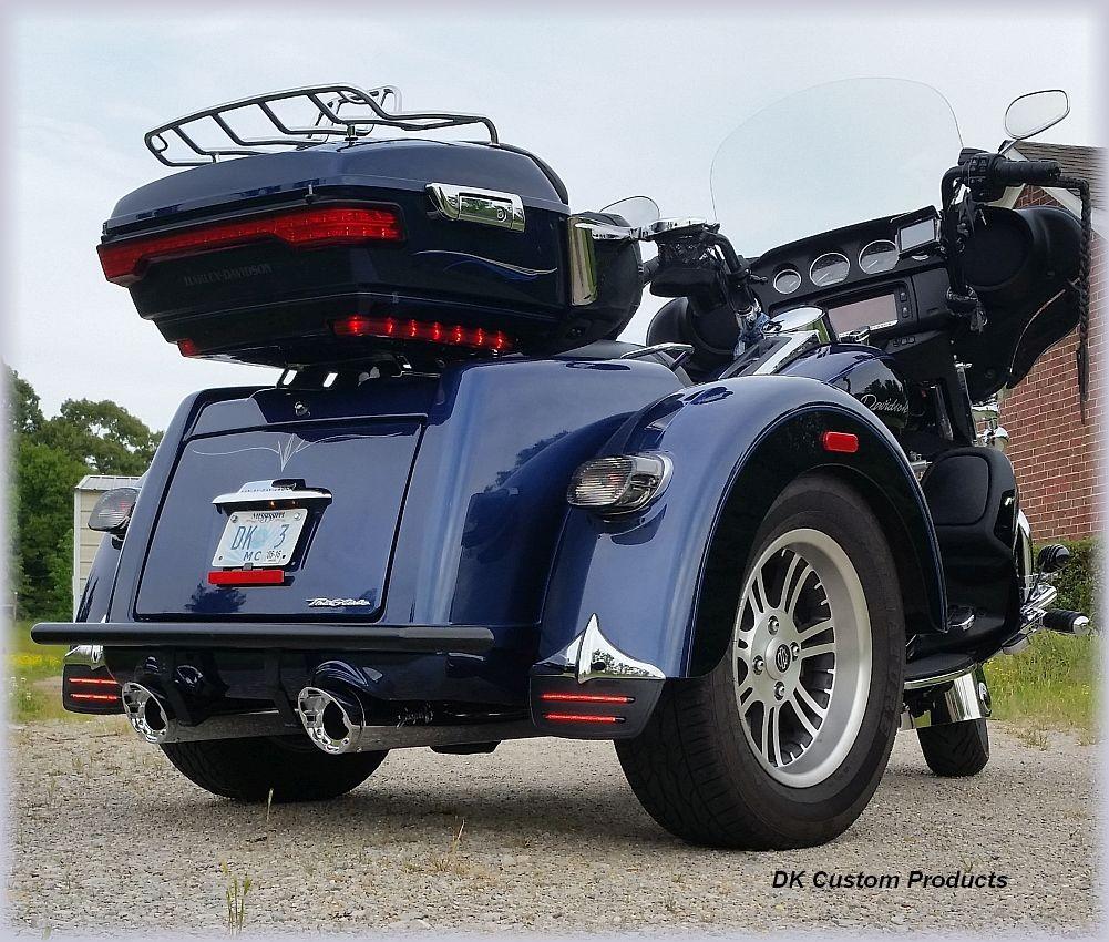 Tri-Glide Comfort Lift Kit Harley-Davidson DK Custom Products no more dragging pipes Level out Pro-Action/DK Custom Trike Series Shocks