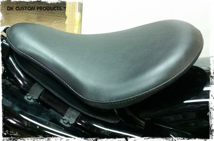 """DK Custom Premium Premium 16"""" Bobber Solo Seat System w/ Rubber Bumpers Sportster  2004-Up Sportsters Made in the USA Harley"""