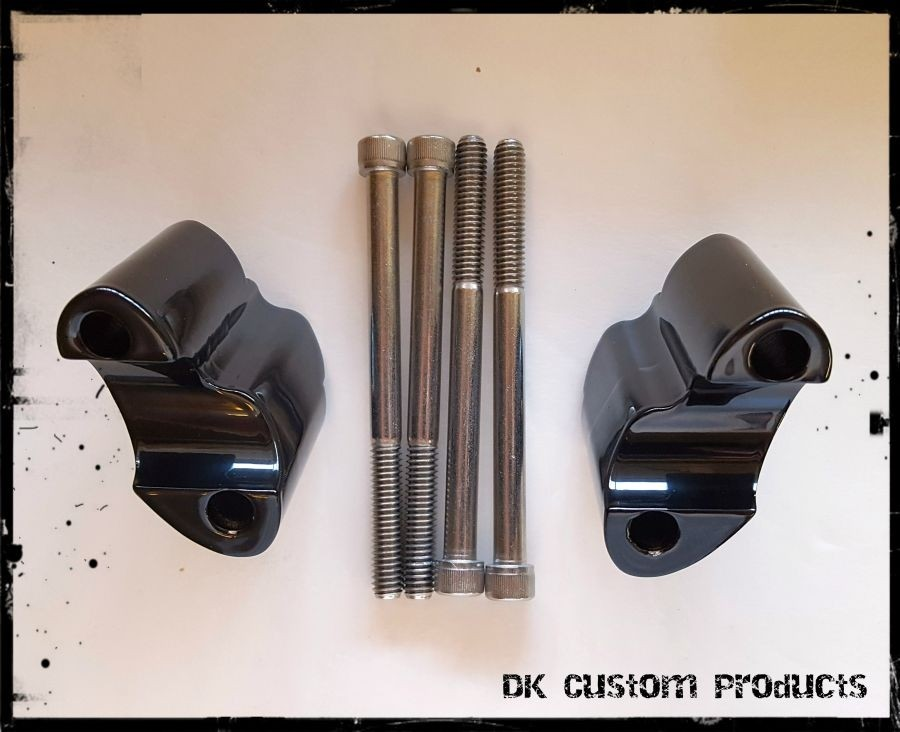 DK Custom Stealth Handlebar Riser Extension Harley Davidson 48 Forty Eight Sportster LA Choppers Loner Industries