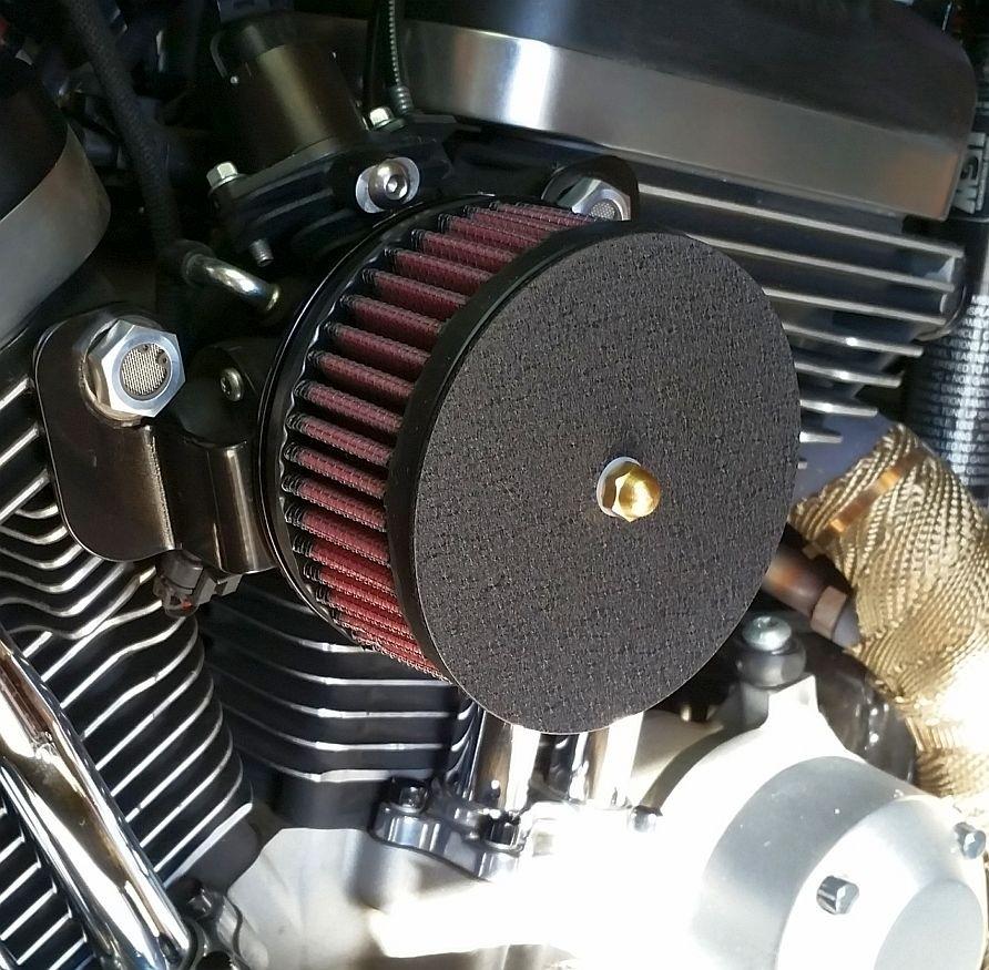 Complete HiFlow 425 Air Cleaner Sano Black for Sportsters Harley Davidson High Flow Air cleaner  DK Custom Nightster Iron 48 Custom Low SuperLow Stage I K&N EFI Carbureted