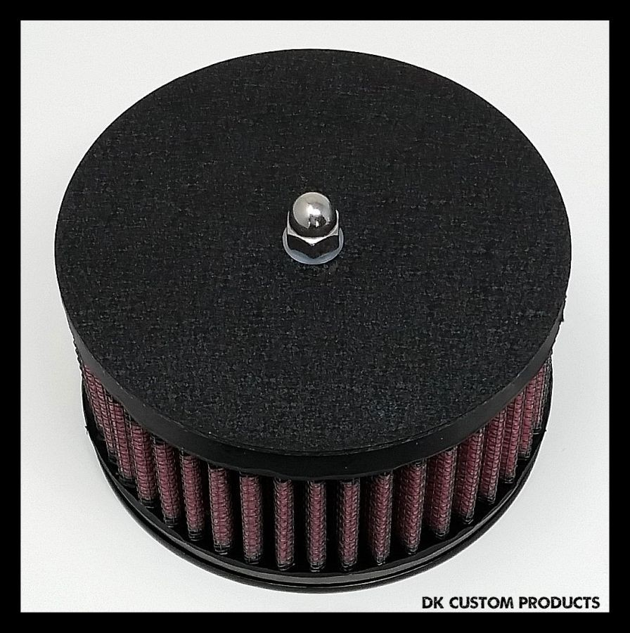 Wrinkle Black Air Cleaner Cover Outlaw High Flow 425 Air Cleaner Harley Davidson DK Custom Stage I