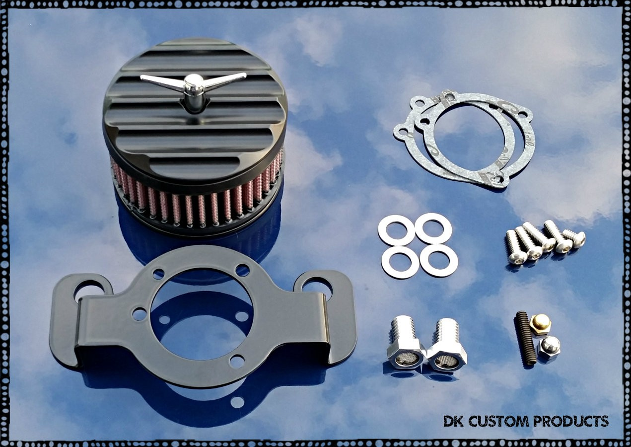 Complete HiFlow 425 Air Cleaner Black Finned for Harley Twin Cam DK Custom Harley Davidson Outlaw Air Cleaner Systems Complete EBS  High Flow M-8 Milwaukee-Eight Softail Twin Cam Sportster Roadster Dyna 72 48 Big Twin Evo Nightster Iron Stage I Ness Big S