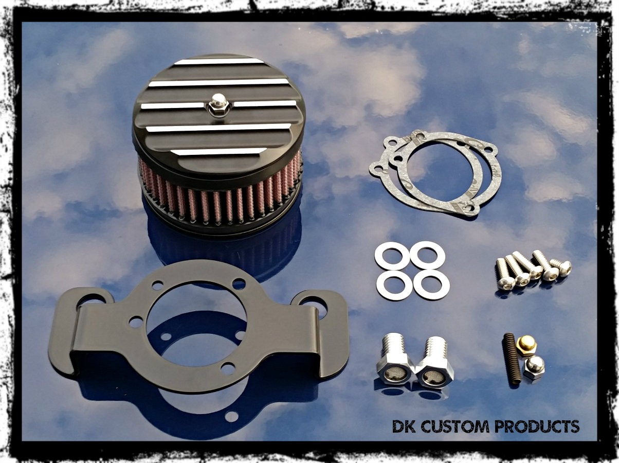 Contrast Cut Finned DK Custom Harley Davidson Outlaw Air Cleaner Systems Complete EBS  High Flow M-8 Milwaukee-Eight Softail Twin Cam Sportster Roadster Dyna 72 48 Big Twin Evo Nightster Iron Stage I Ness Big Sucker 587 425 606 636v Pro Billet Bracket Bre