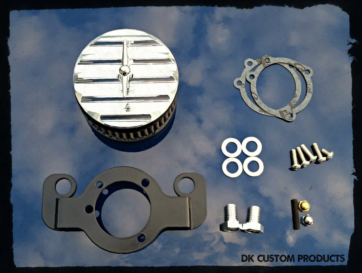 Polished Finned DK Custom Harley Davidson Outlaw Air Cleaner Systems Complete EBS  High Flow M-8 Milwaukee-Eight Softail Twin Cam Sportster Roadster Dyna 72 48 Big Twin Evo Nightster Iron Stage I Ness Big Sucker 587 425 606 636v Pro Billet Bracket Breathe