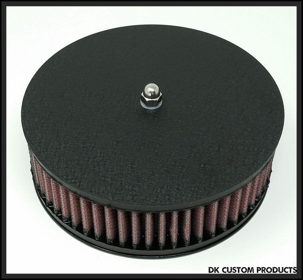 Wrinkle Black Air Cleaner Cover Outlaw High Flow 587 Air Cleaner Harley Davidson DK Custom Stage I