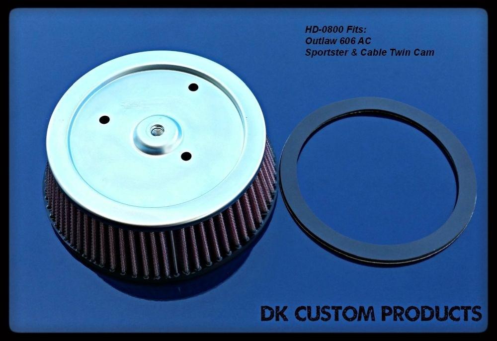 DK Custom Products K&N Harley Davidson Air Cleaner Filter Element Outlaw 606