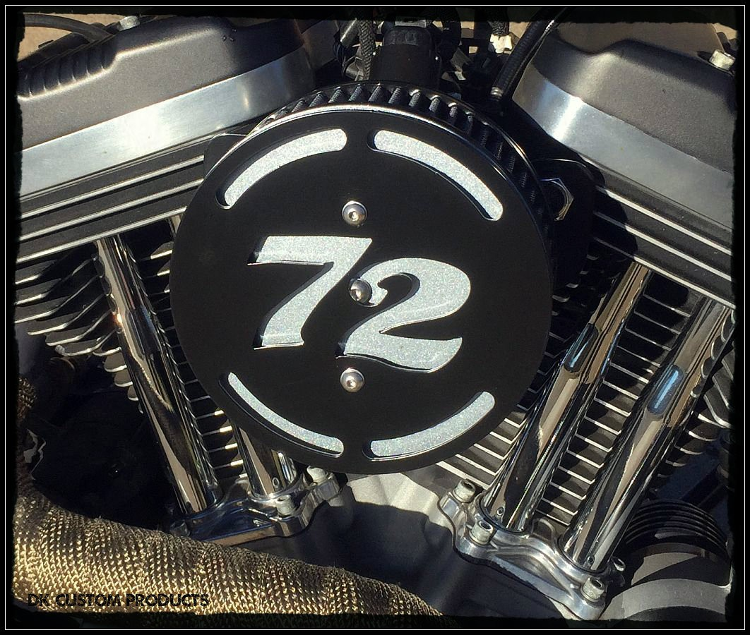 72 Logo 3-D Flake Complete HiFlow 587 Air Cleaner Sportster Sportster Harley Davidson High Flow Air cleaner DK Custom Nightster Iron 48 Custom Low SuperLow Stage I K&N EFI Carbureted Complete High Performance