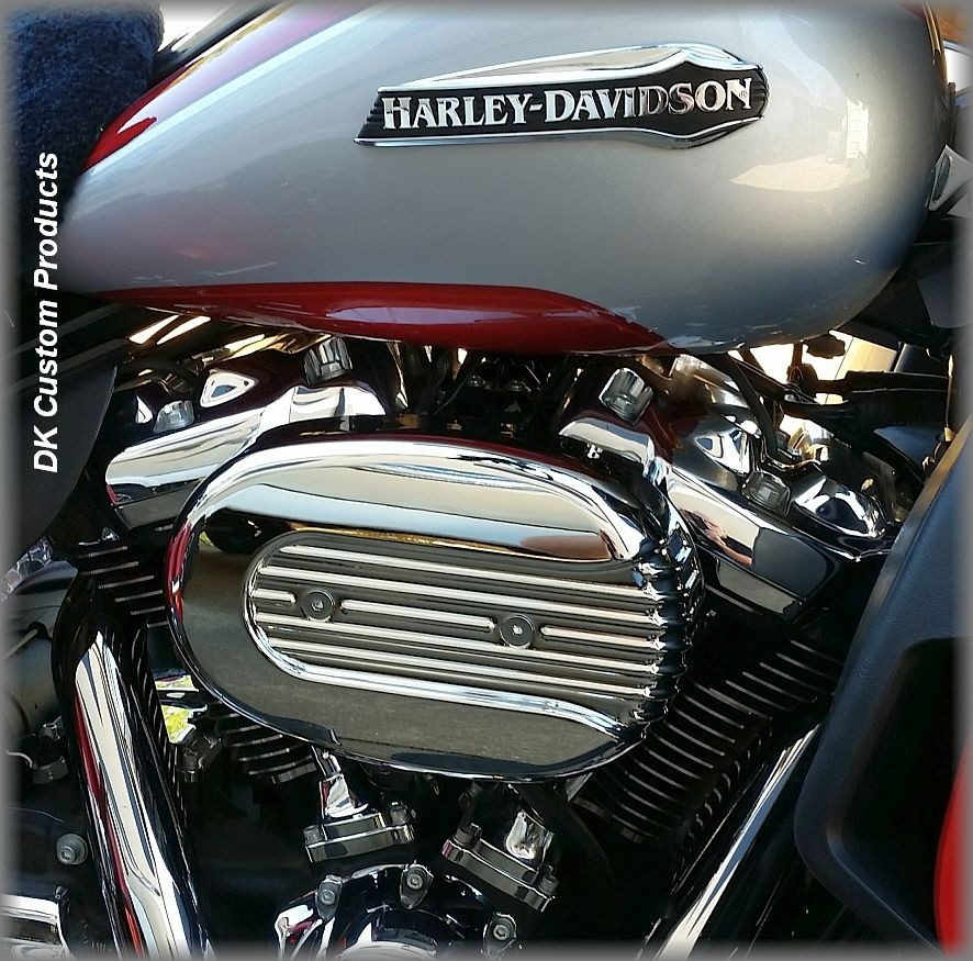 DK Custom Outlaw HiFlow 828 Intake Air Cleaner Stage I Chrome Speed Fin