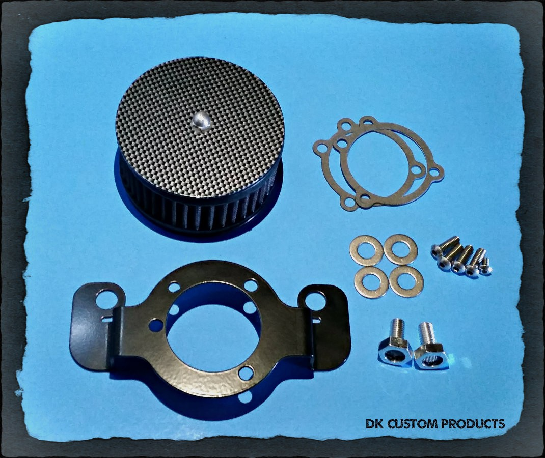 Complete HiFlow 425 Air Cleaner Carbon Fiber Harley Twin Cam DK Custom Harley Davidson Outlaw Air Cleaner Systems Complete EBS  High Flow M-8 Milwaukee-Eight Softail Twin Cam Sportster Roadster Dyna  Touring Trike Freewheeler 72 48 Big Twin Evo Nightster