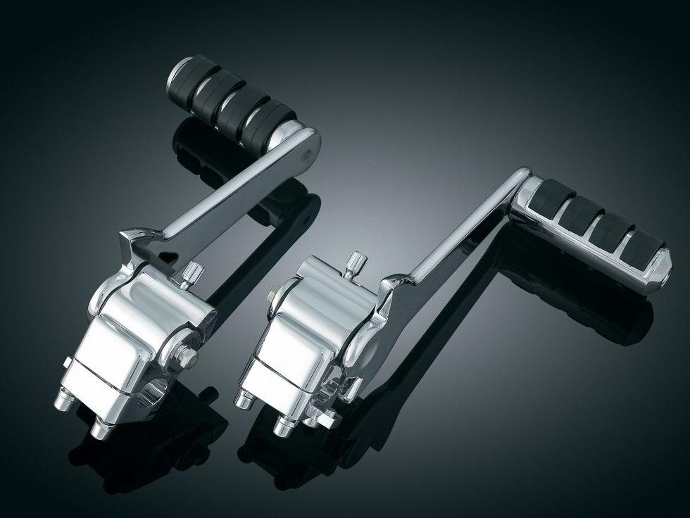 DK Custom Adjustable Passenger Pegs for Touring & Tri-Glide Freewheeler Harley Kuryakyn  Bagger