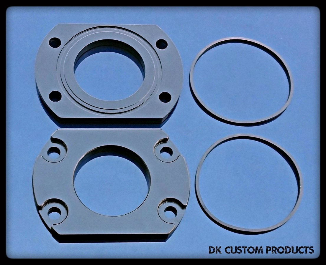 DK Custom Axle Bearing Retainer Plates for Harley-Davidson Tri-Glide & Freewheeler