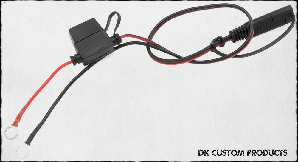 Battery Charger / Tender Fused Harness w/ Quick Connect Rings