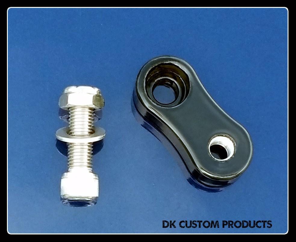 DK Custom Sano Black Shift Peg Adjuster Link for Rock-It-Shift Harley Davidson
