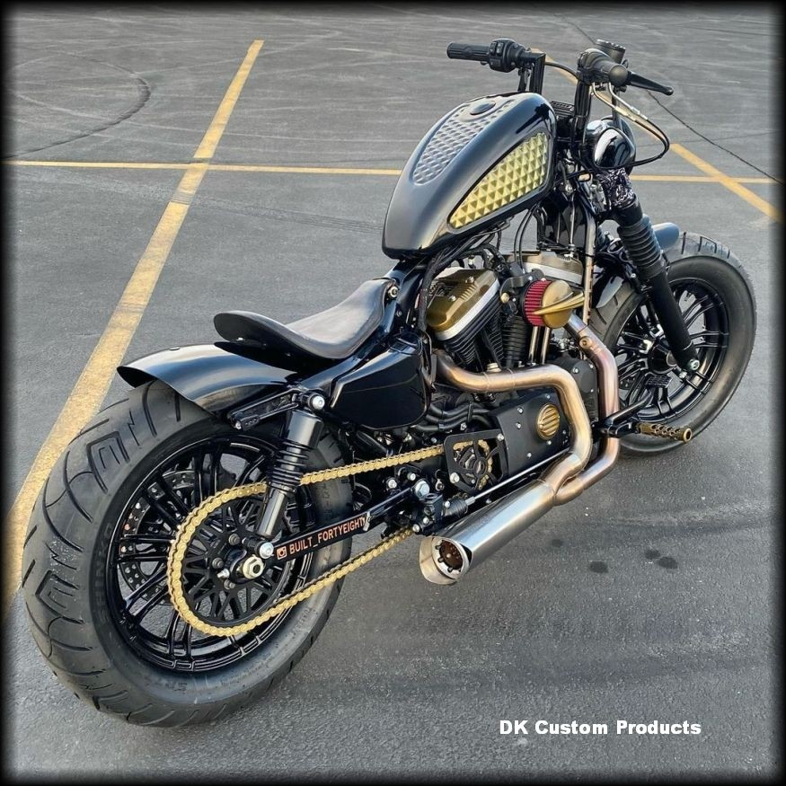 DK Custom Sano Black Cyclone PULLEY GUARD for 04-Up Sportster Harley-Davidson Nightster 48 72 low custom