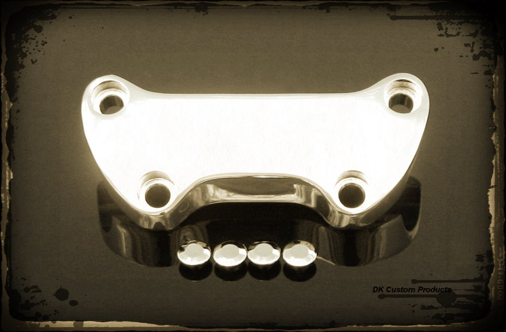 DK Custom Chrome Smooth Handlebar Top Clamp for Harley-Davidson Sportsters Left or Right side Super Custom 48 Dyna