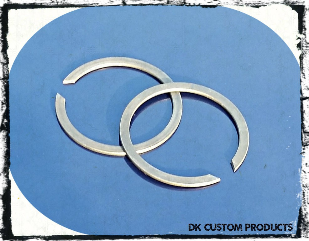 DK Custom Pair of Harley Exhaust Circlips retaining clips Sportster - Evo - Twin Cam Harley
