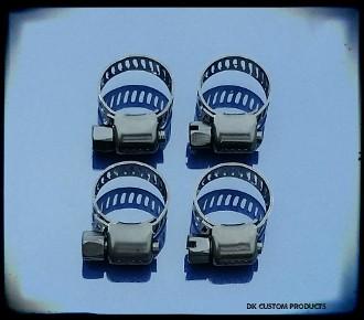 Black Hose Clamps for Breather & Oil Hose Lines DK Custom Products External Breather System Harley Davidson