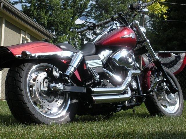 "DK Custom Dyna 1"" Lowering Kit 06-UP  for Harley-Davidson Models Billet Aluminum Lowering Blocks Made in The USA Anodized Black Chrome"