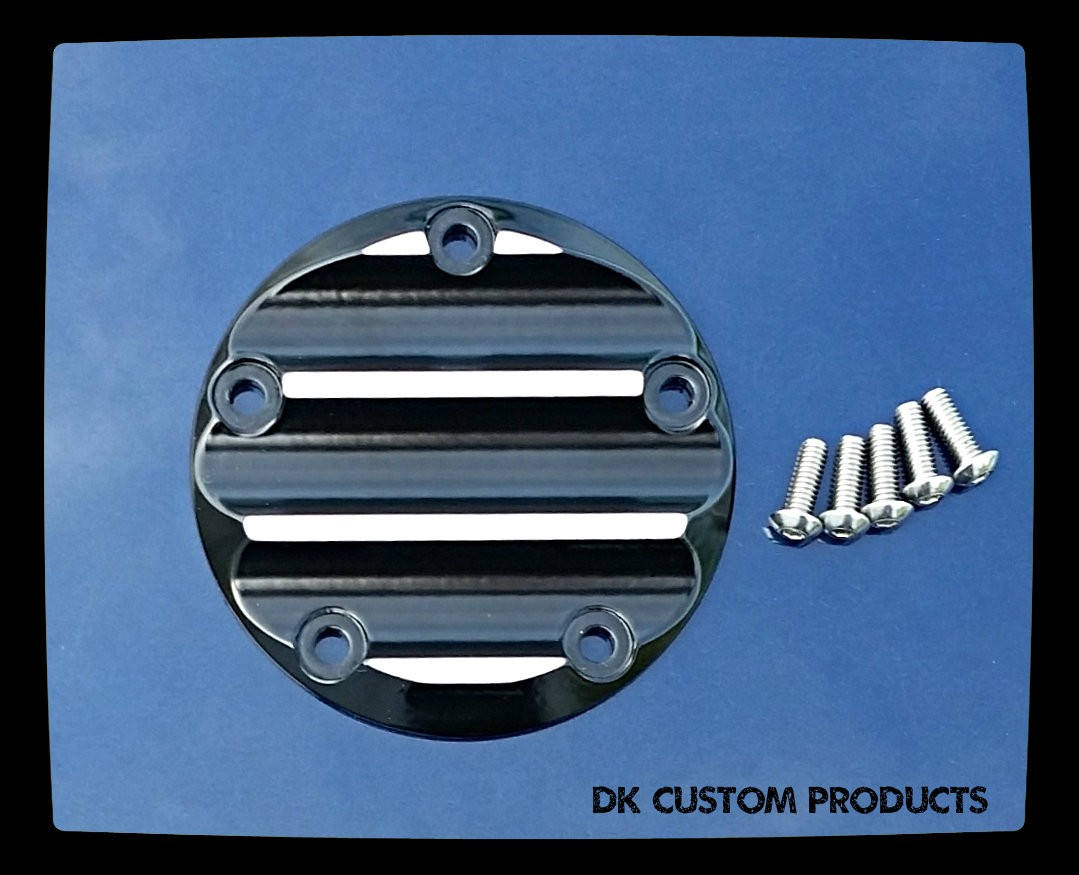 DK Custom Harley Points Timing Cover Billet Aluminum Contrast Cut Evo Sportster Twin Cam M8 Milwaukee Eight