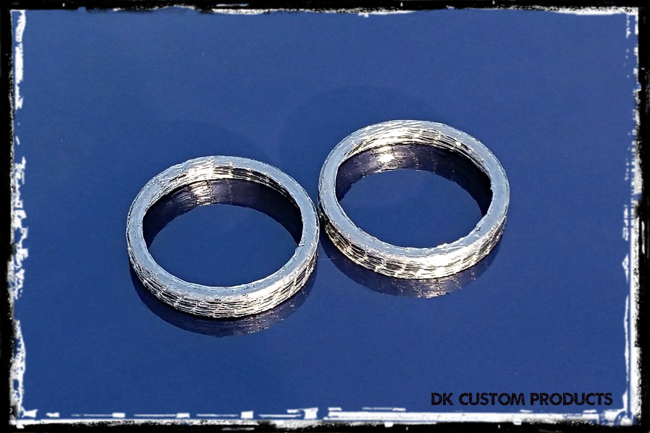 DK Custom Pair of Exhaust Gaskets for Harley Sportsters & Twin Cams Sportster - Evo - Twin Cam Harley