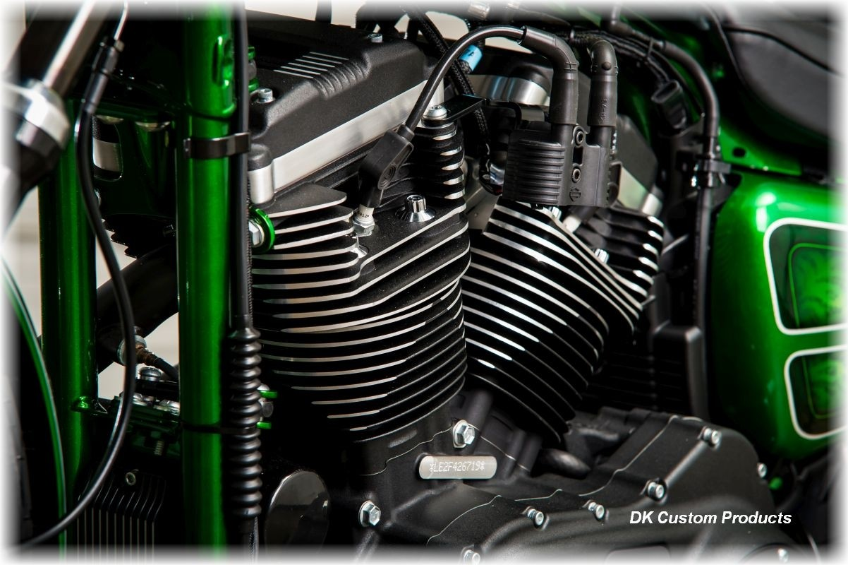 Coil Key Relocation Sportster Nightster 48 Iron Harley Plug wires tank lift relo Harley-Davidson wire tuck better air flow runs cooler M-8 Milwaukee-Eight Softail Twin Cam Sportster Roadster Dyna  Touring Trike Freewheeler 72 48 Big Twin Evo Nightster Iro