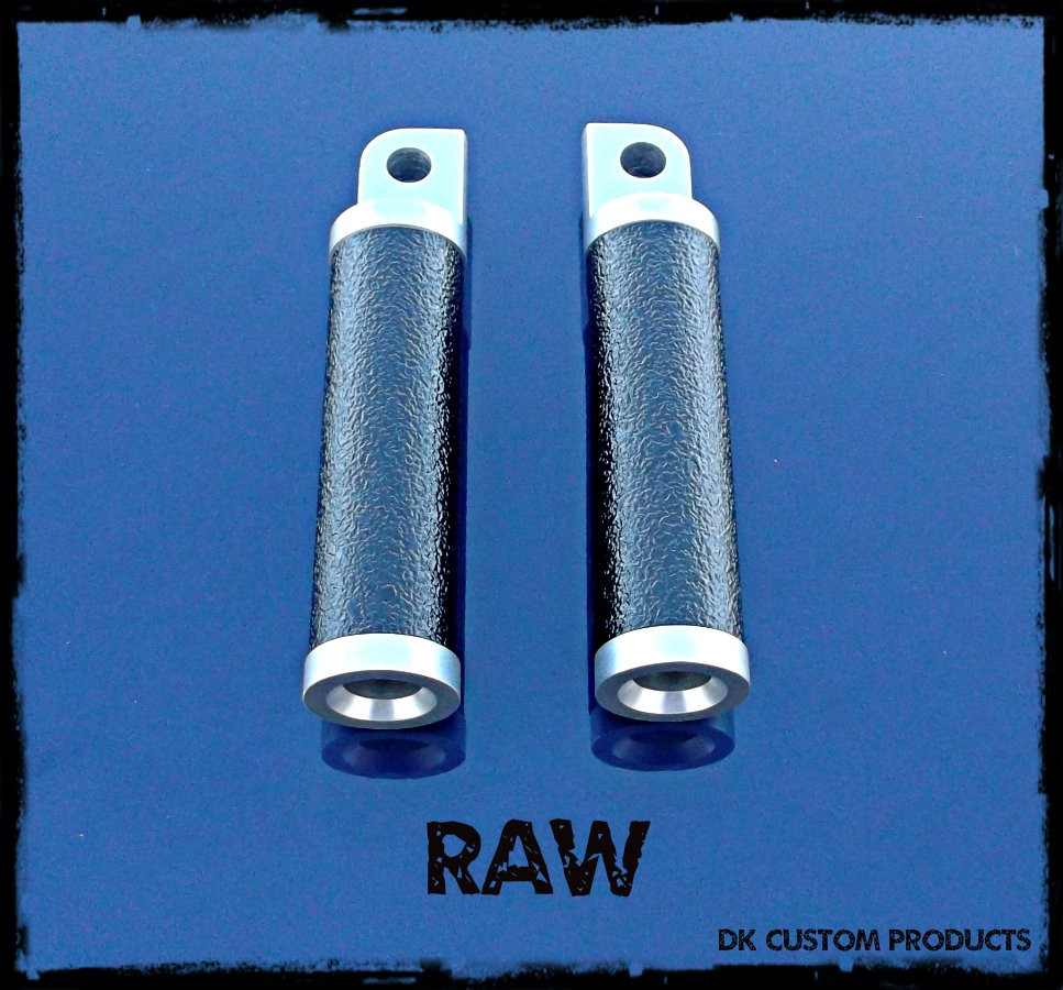 DK Custom Harley Raw Aluminum Gripper Pegs For Harley-Davidson Grip Tape Highway Passenger pegs sportster dyna softail touring Hand made in the USA