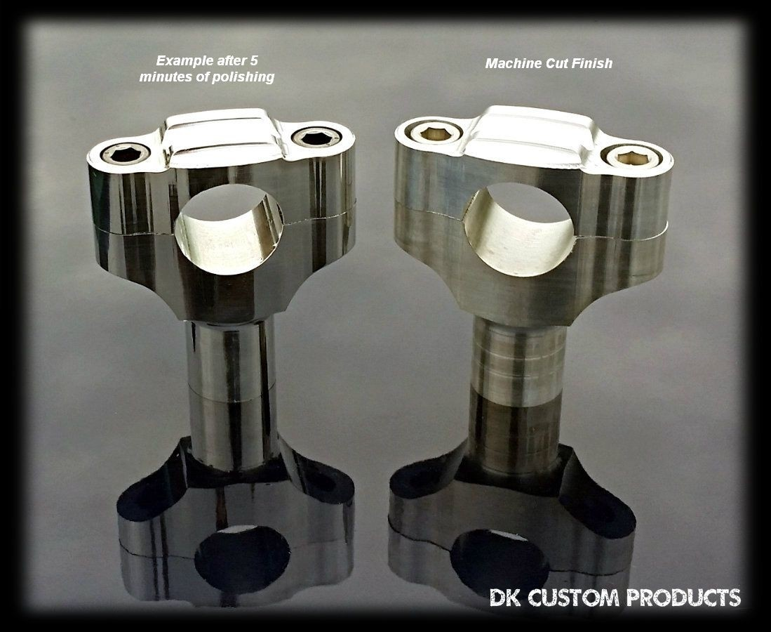 Harley-Davidson Motorcycle Classic Handlebar Clamps DK Custom Finned Design Billet