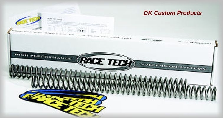 DK Custom Performance Front Suspension Fork Spring Kit Harley-Davidson More Comfortable Ride suspension Race Tech